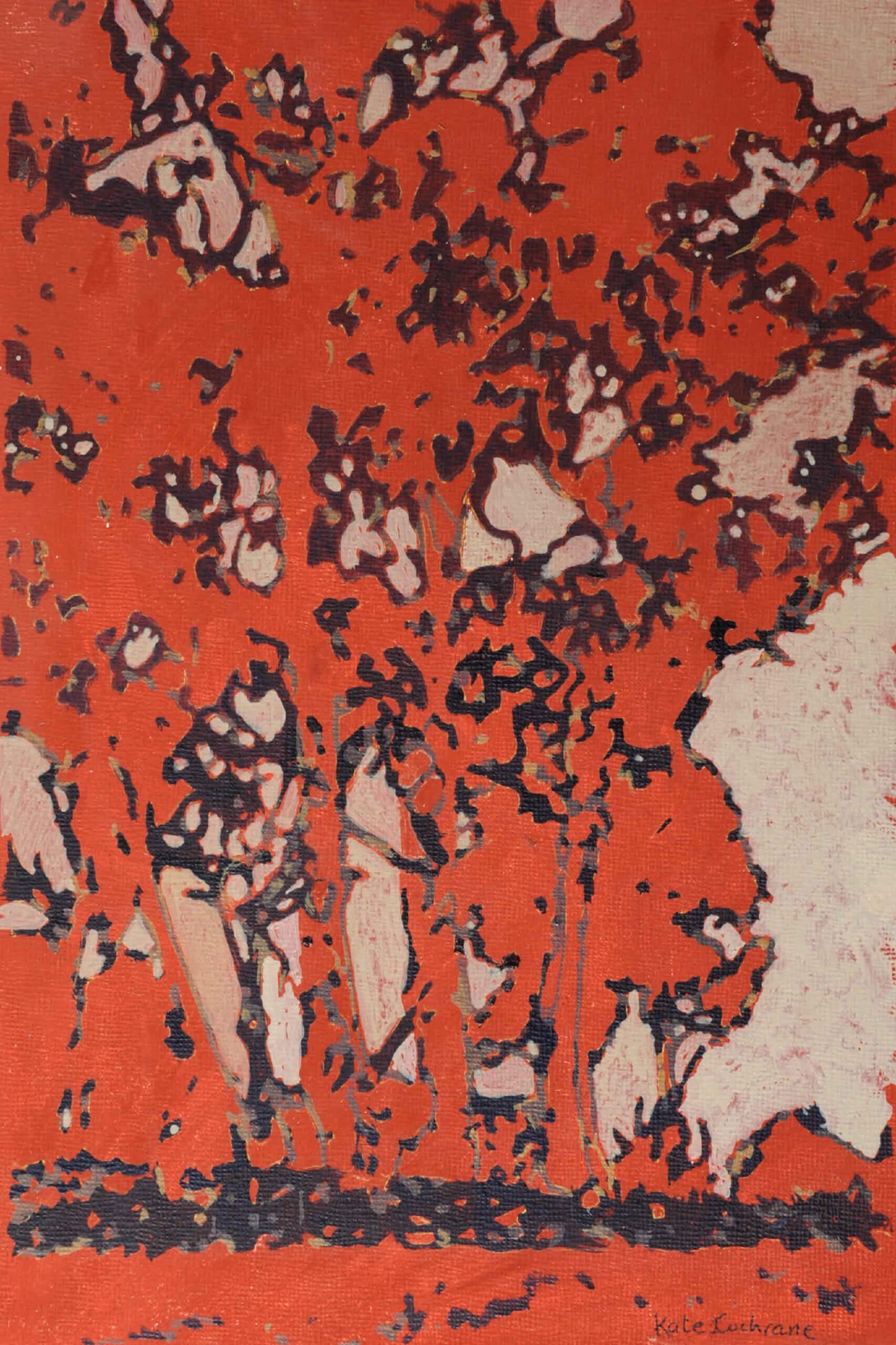 'Red Copse', Tasmania Acrylic on canvas board 2012 30 x 23cm