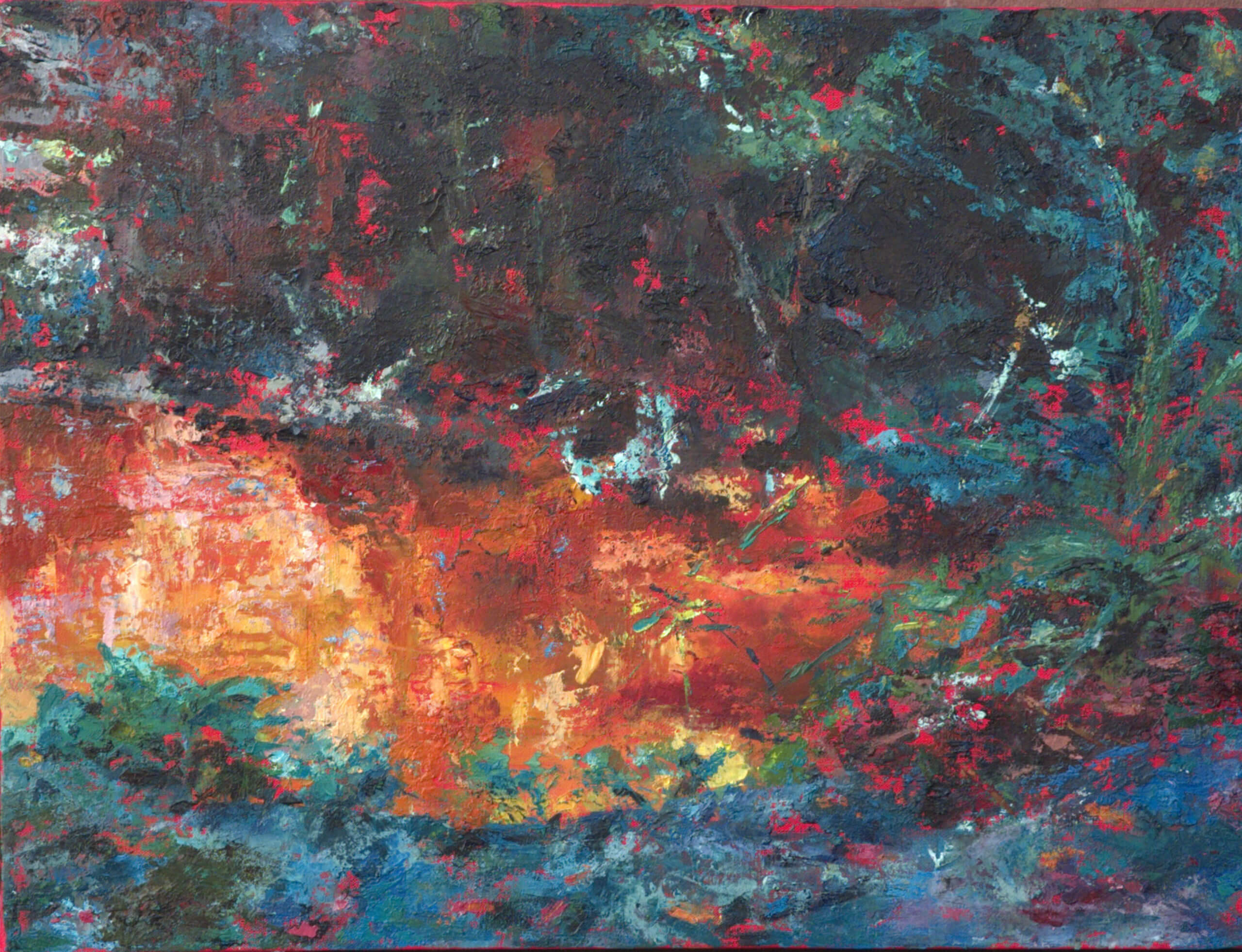 'Baku Orange Pool', oil on canvas, 2014, 60 x 46cm