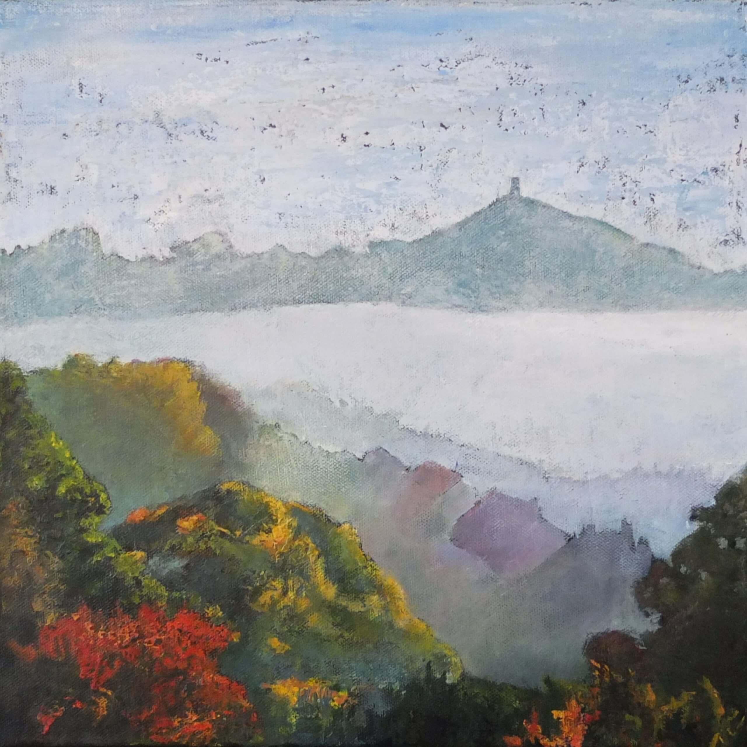 'Early Morning Mist', Glastonbury Tor
